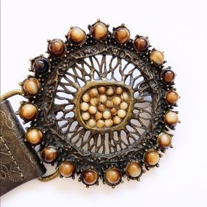 Streets Ahead Boho Coachella Tiger Eye Stone Belt